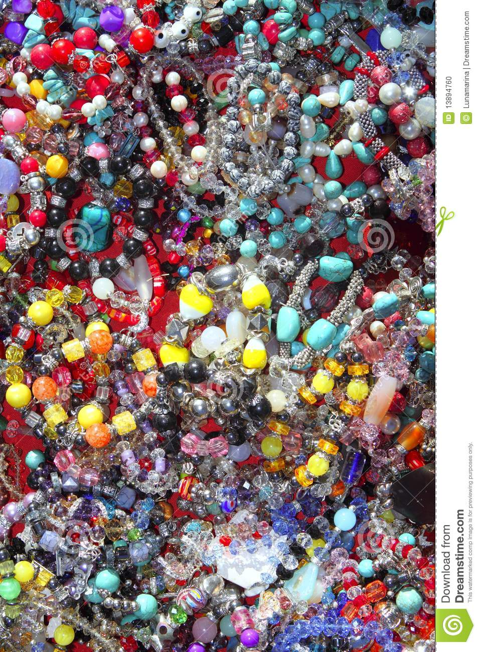 Jewellery Mixed Colorful Jewels Plastic Jewelry Stock