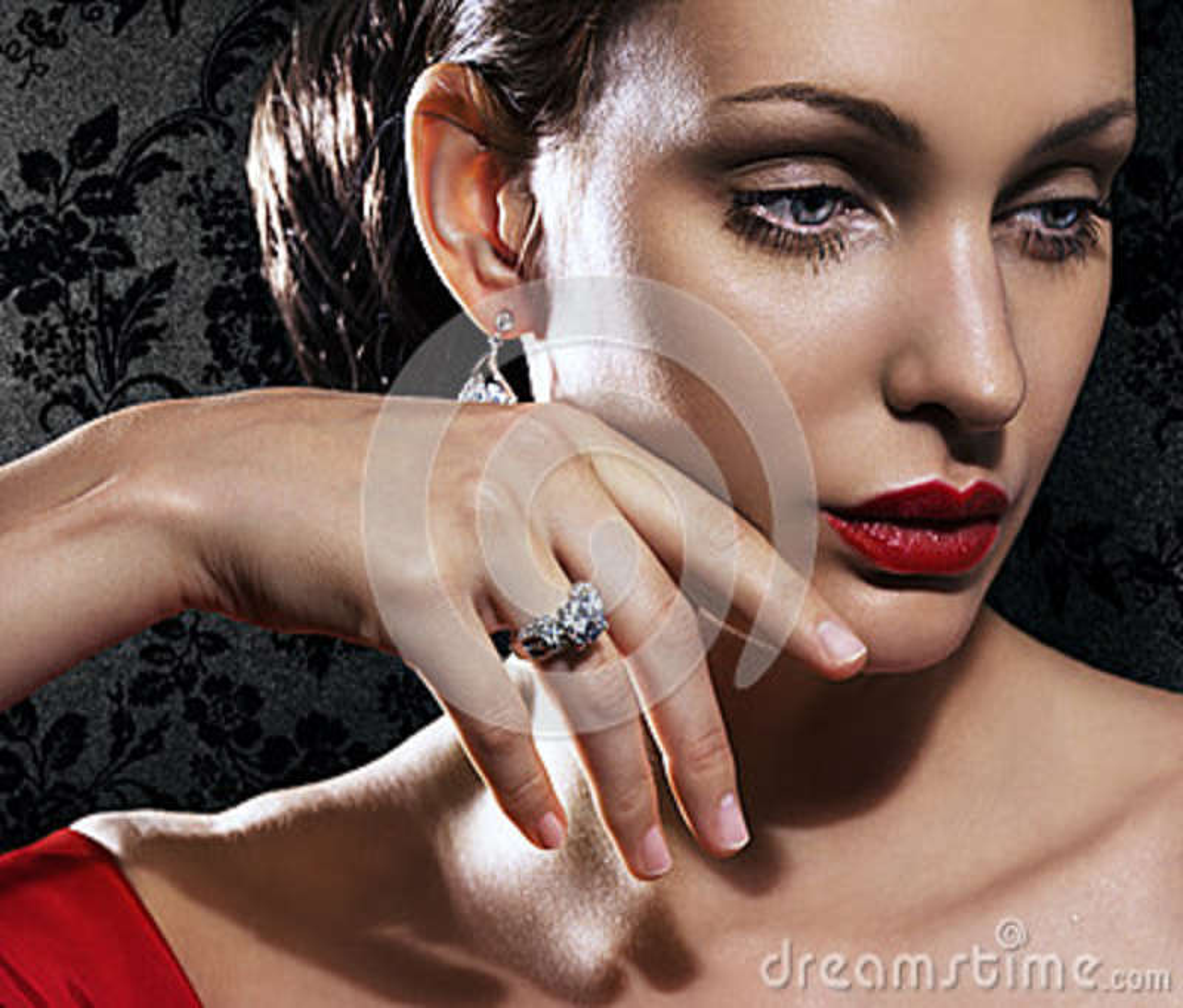 Jewellery piękna kobieta