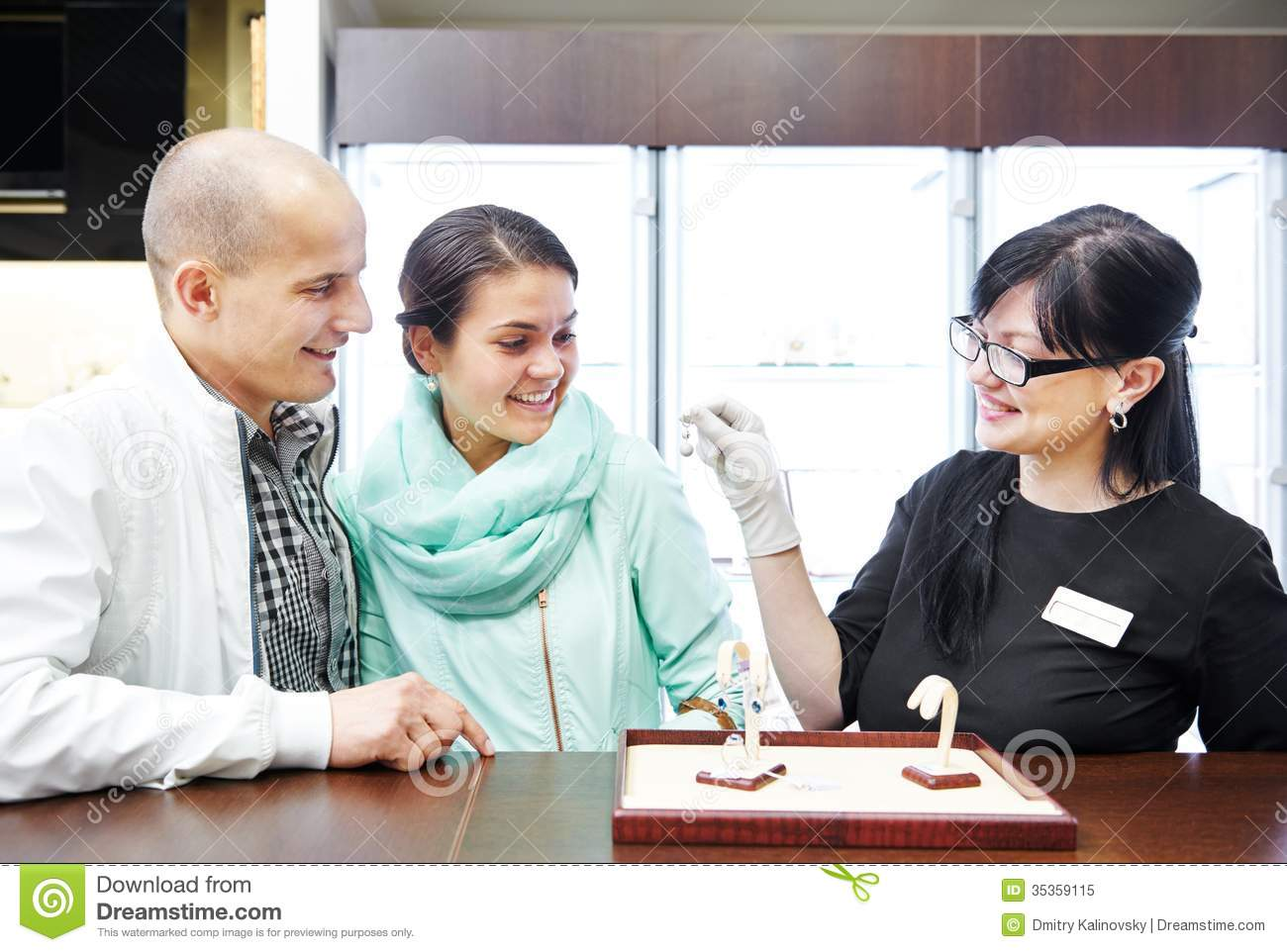 s assistant store customers stock photos images pictures jewellery shopping in boutique royalty stock photo
