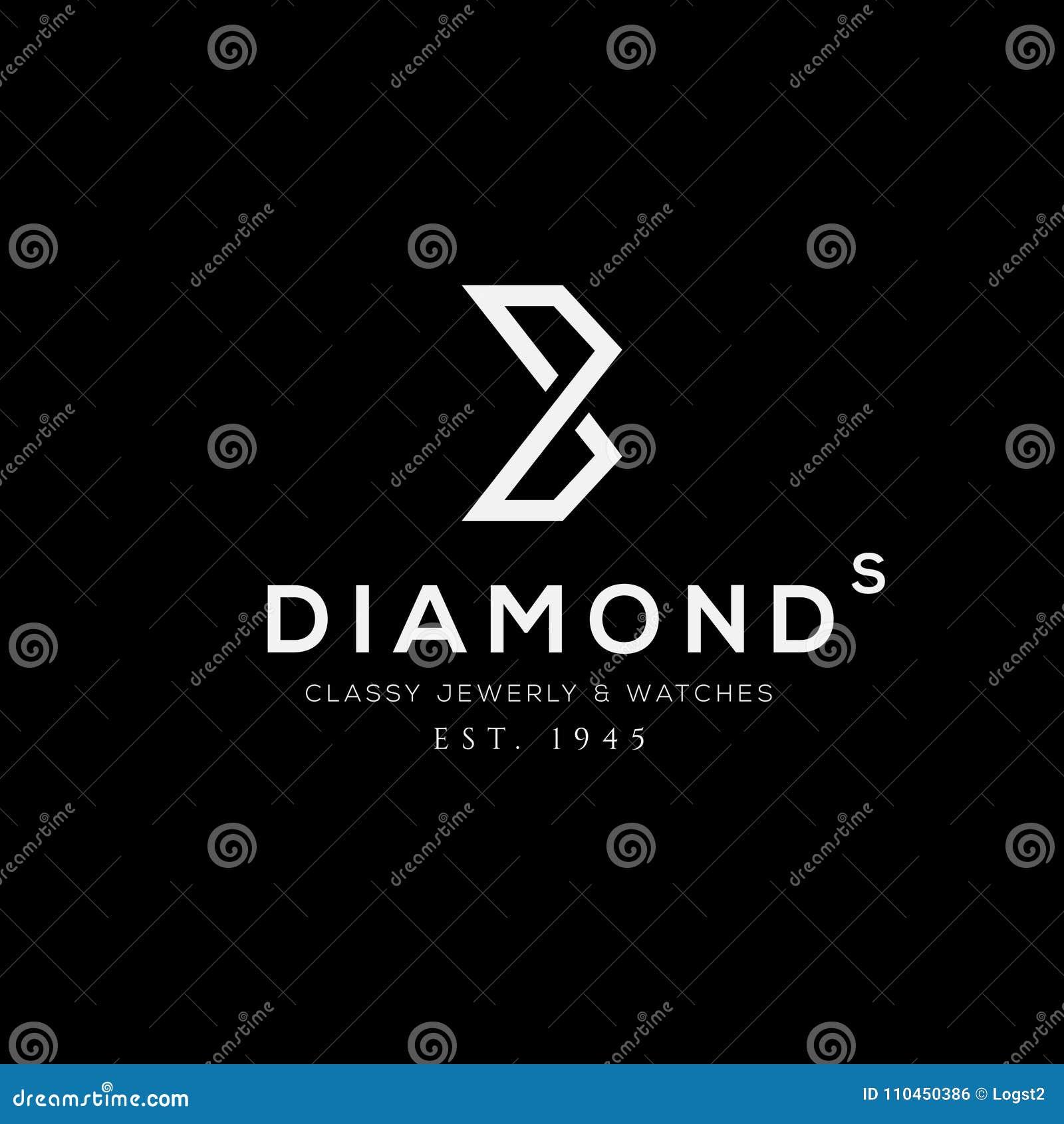 Jewellery wektoru logo Biznesu znak, tożsamość dla restauraci, królewskość,
