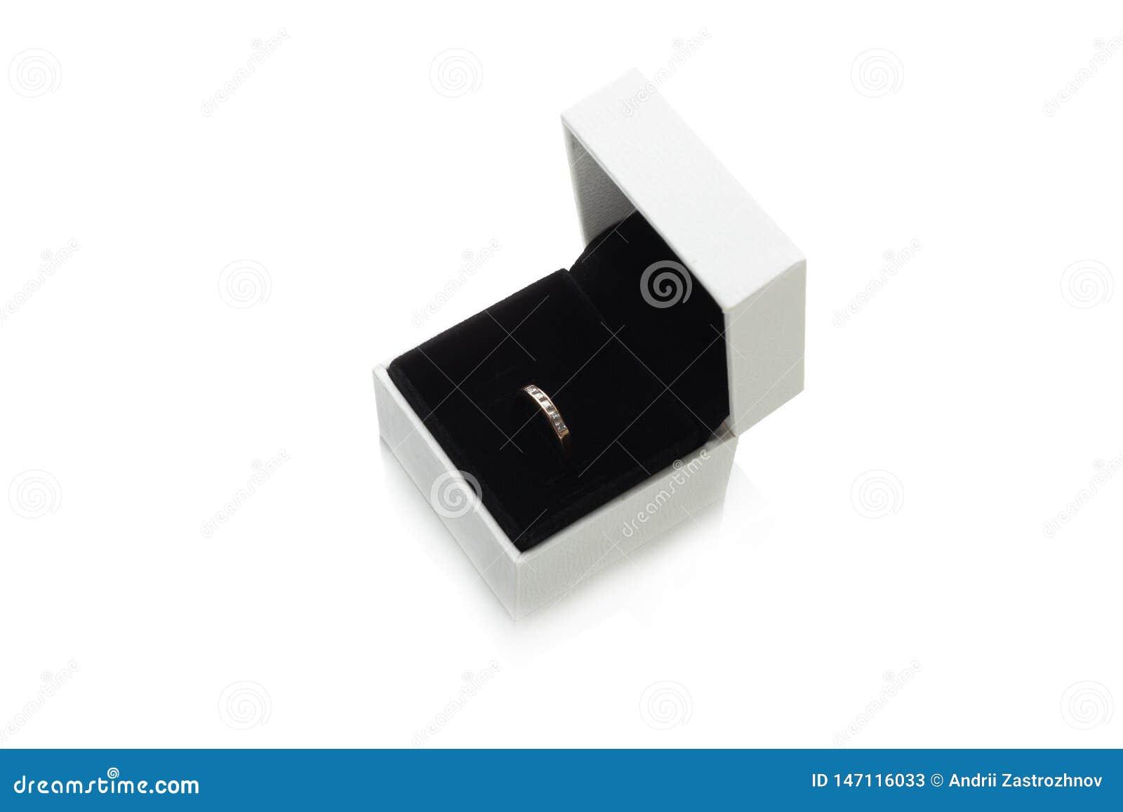 Jewelry box, luxury gift. White case, isolated