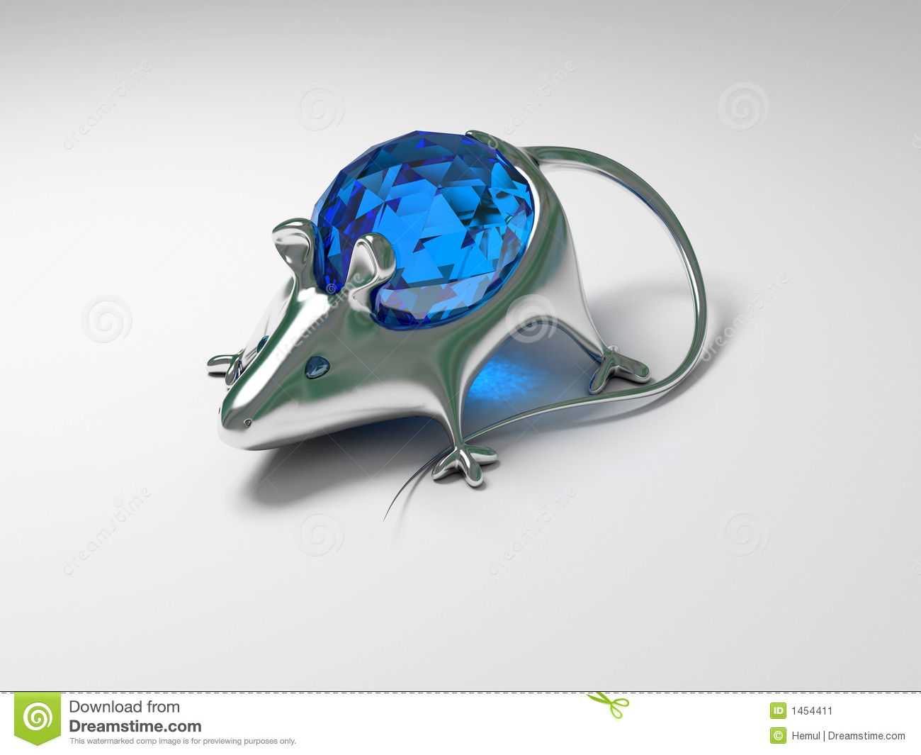Jewelry decoration mouse with diamond