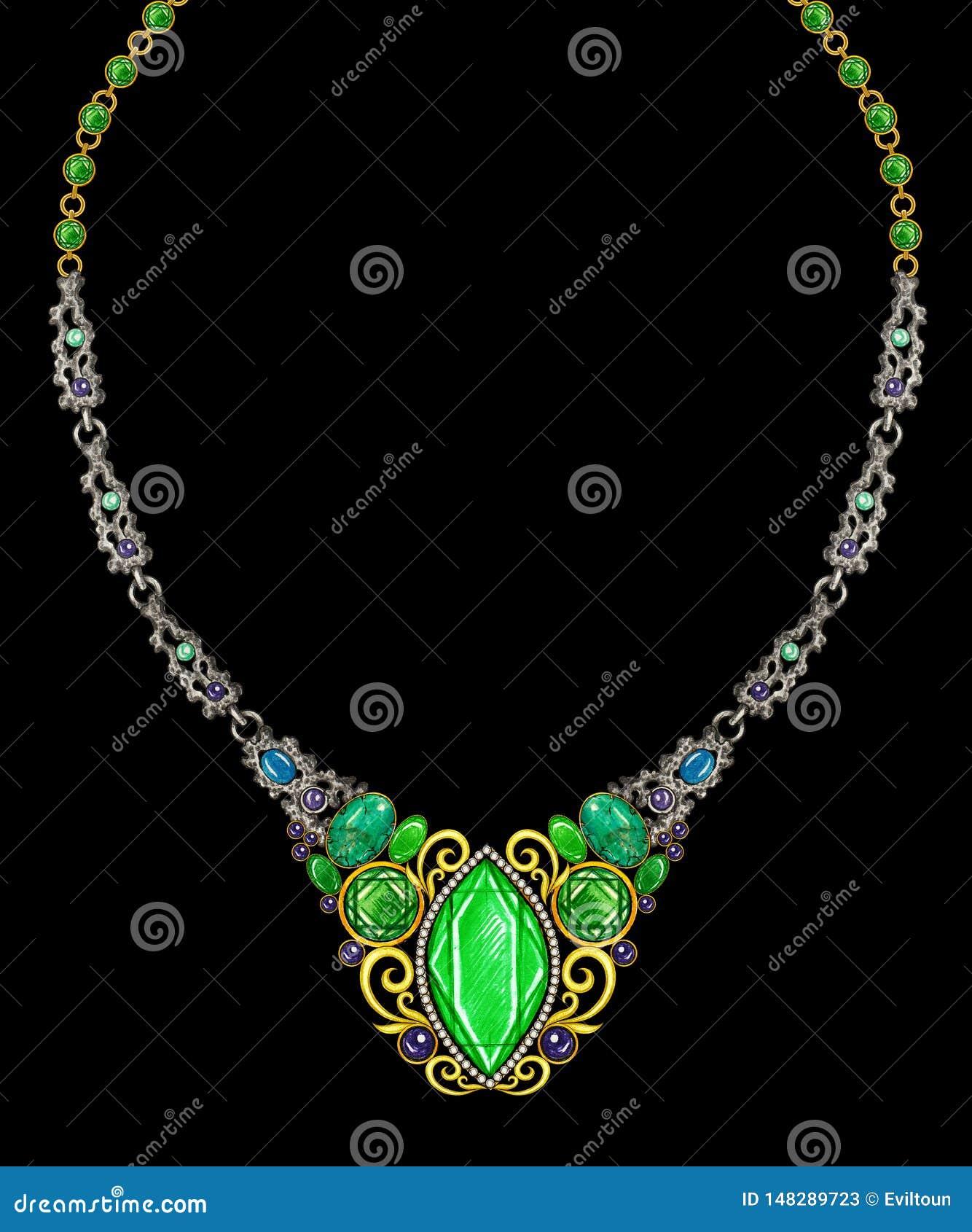 Jewelry Design Art Vintage Necklace.