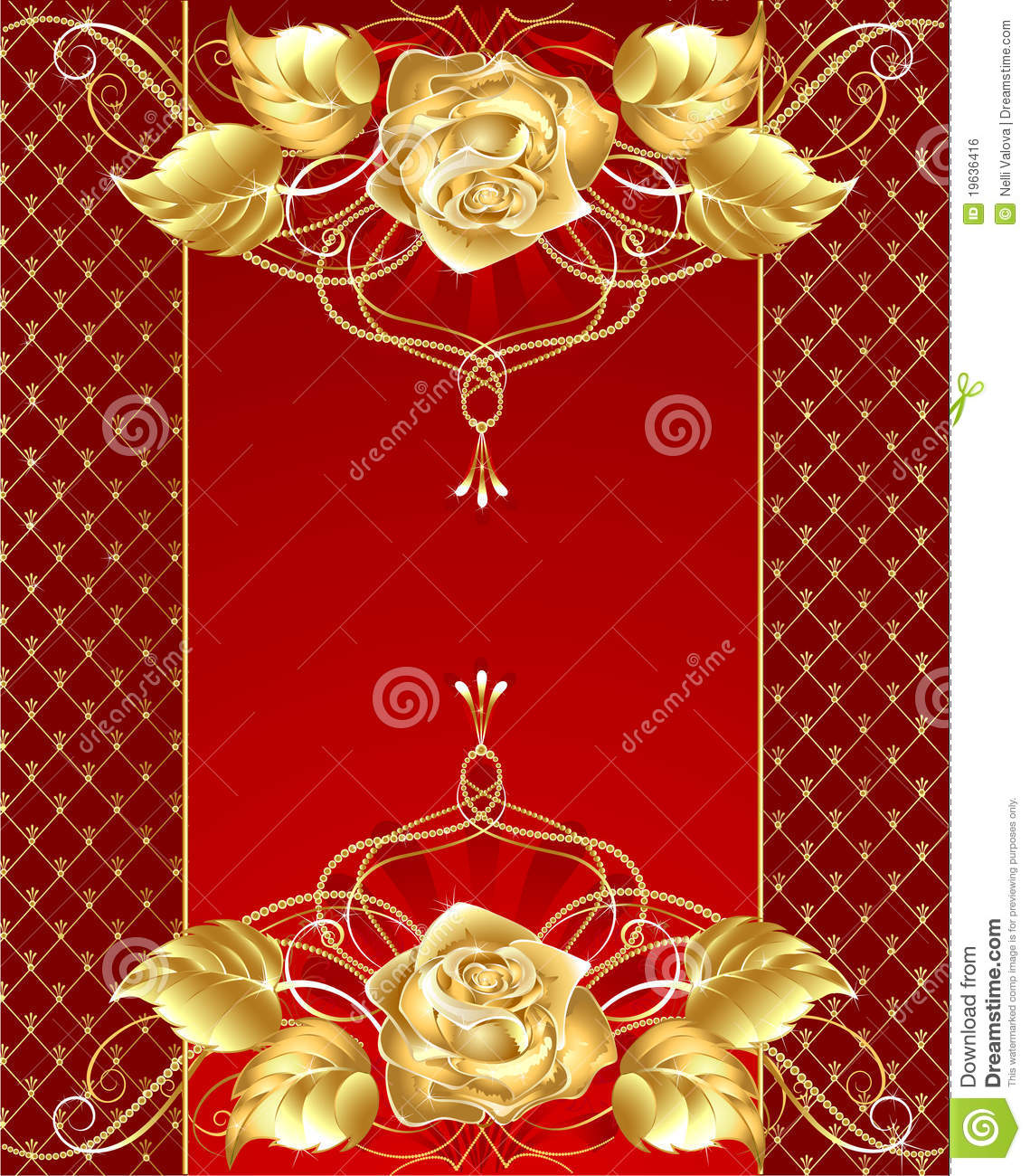 Jewelry design with a gold rose royalty free stock image for Red with gold