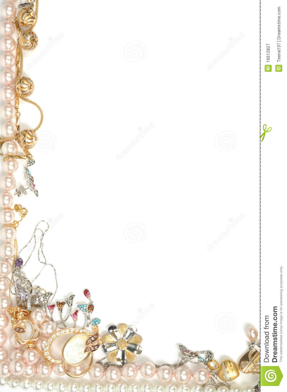 Jewelry Frame Royalty Free Stock Photography Image 16612827
