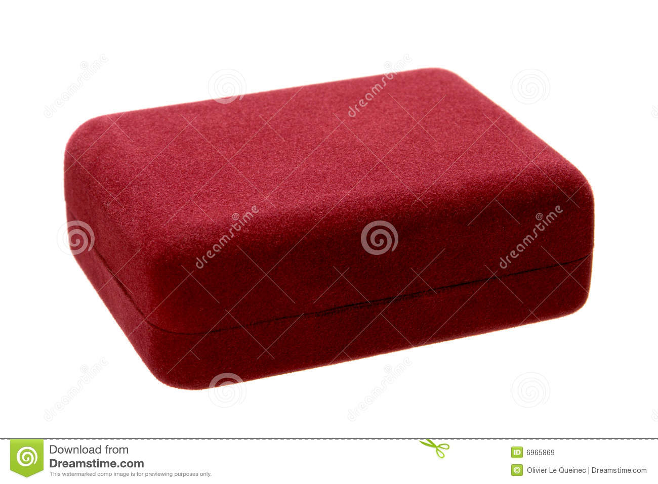 Jewelry gift box with red velvet surface isolated royalty for Red velvet jewelry gift boxes