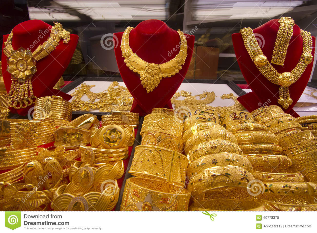 showcase asia souq middle east uae jewellery stock display window emirates gold jewelry city arab united photo dubai