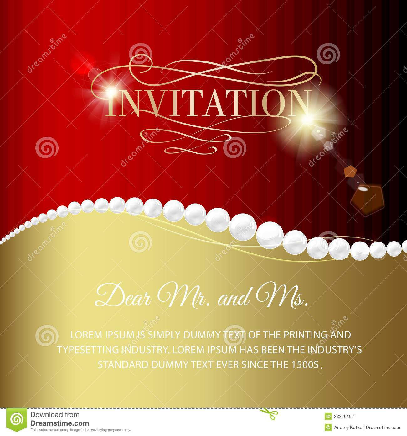 Jewelry Invitation Card Royalty Free Stock Photography
