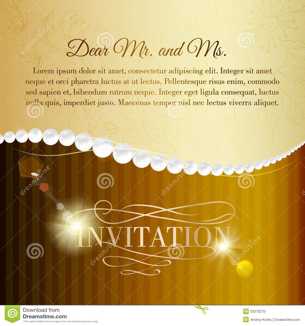 Jewelry Invitation Card Stock Vector Illustration Of