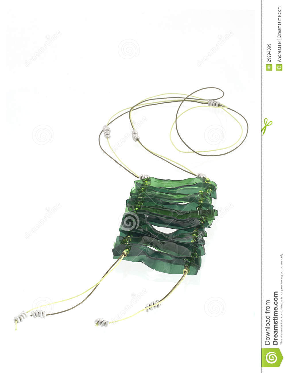 Ecojewelry Necklace From Recycled Plastic Bottles Stock