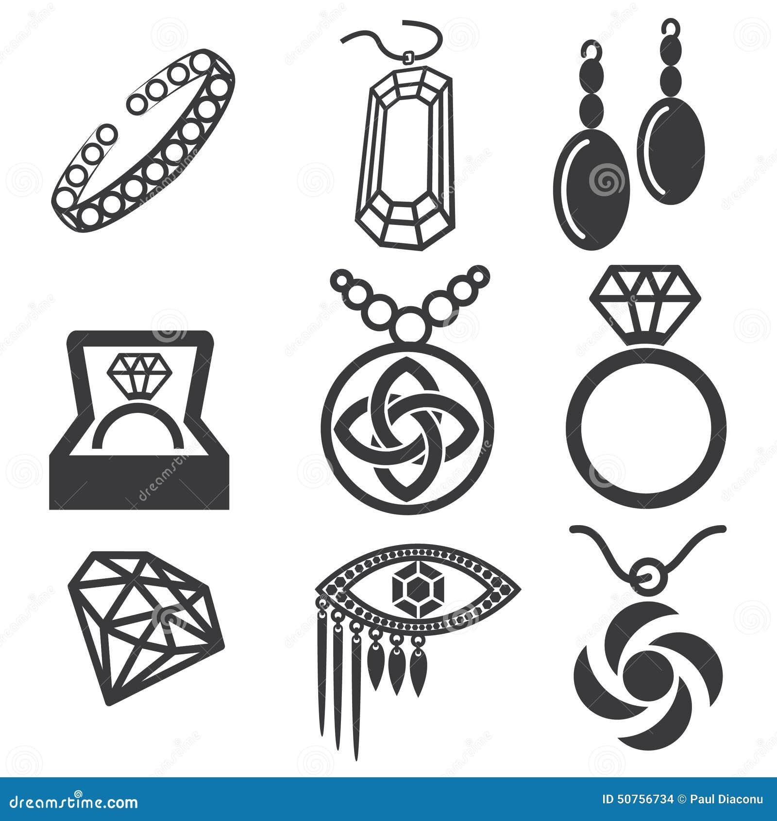 Jewelry Design Line Art : Jewelry mark set stock vector illustration of shapes