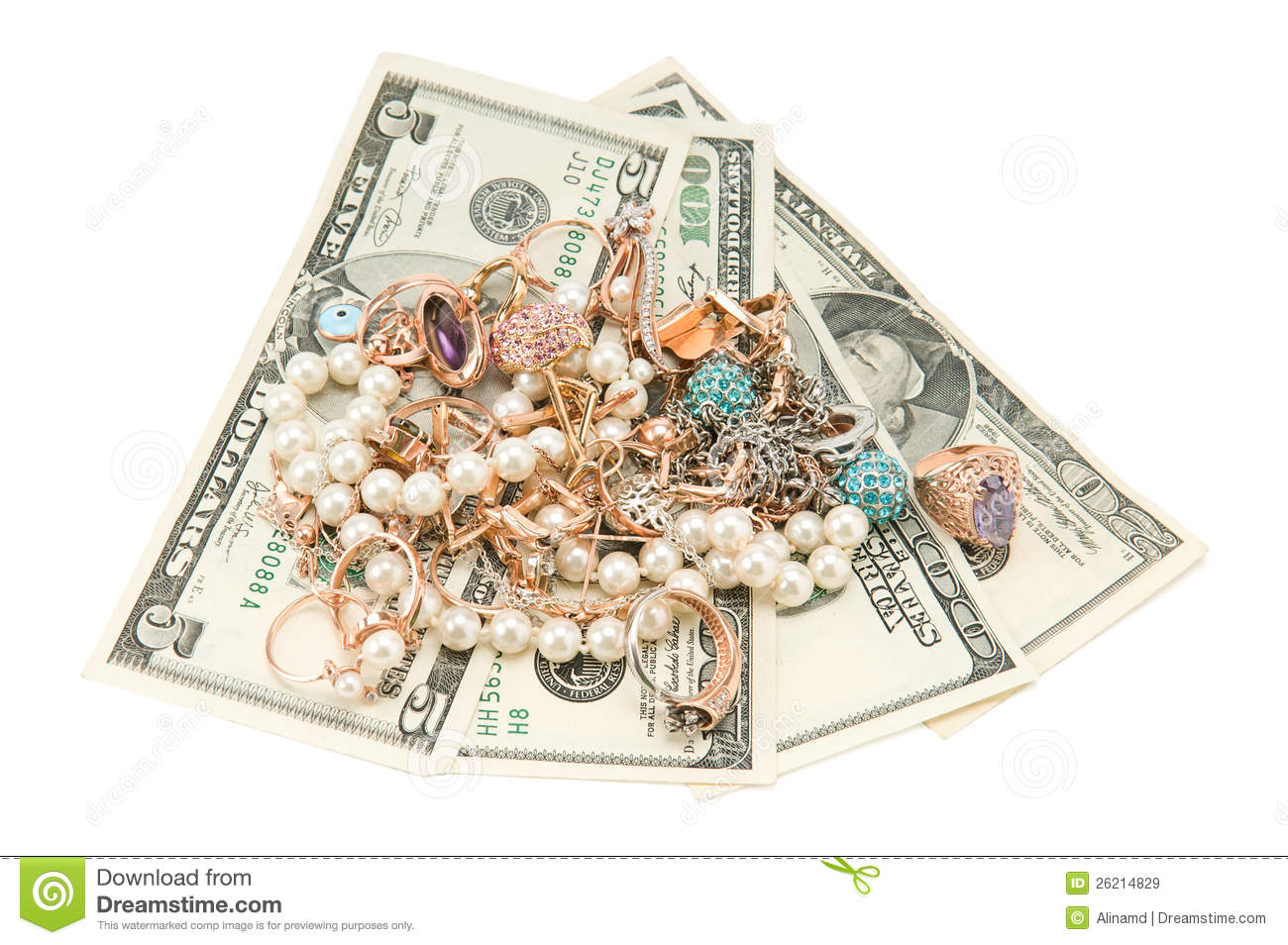 Jewelry And Money Stock Image Image Of Business Finance