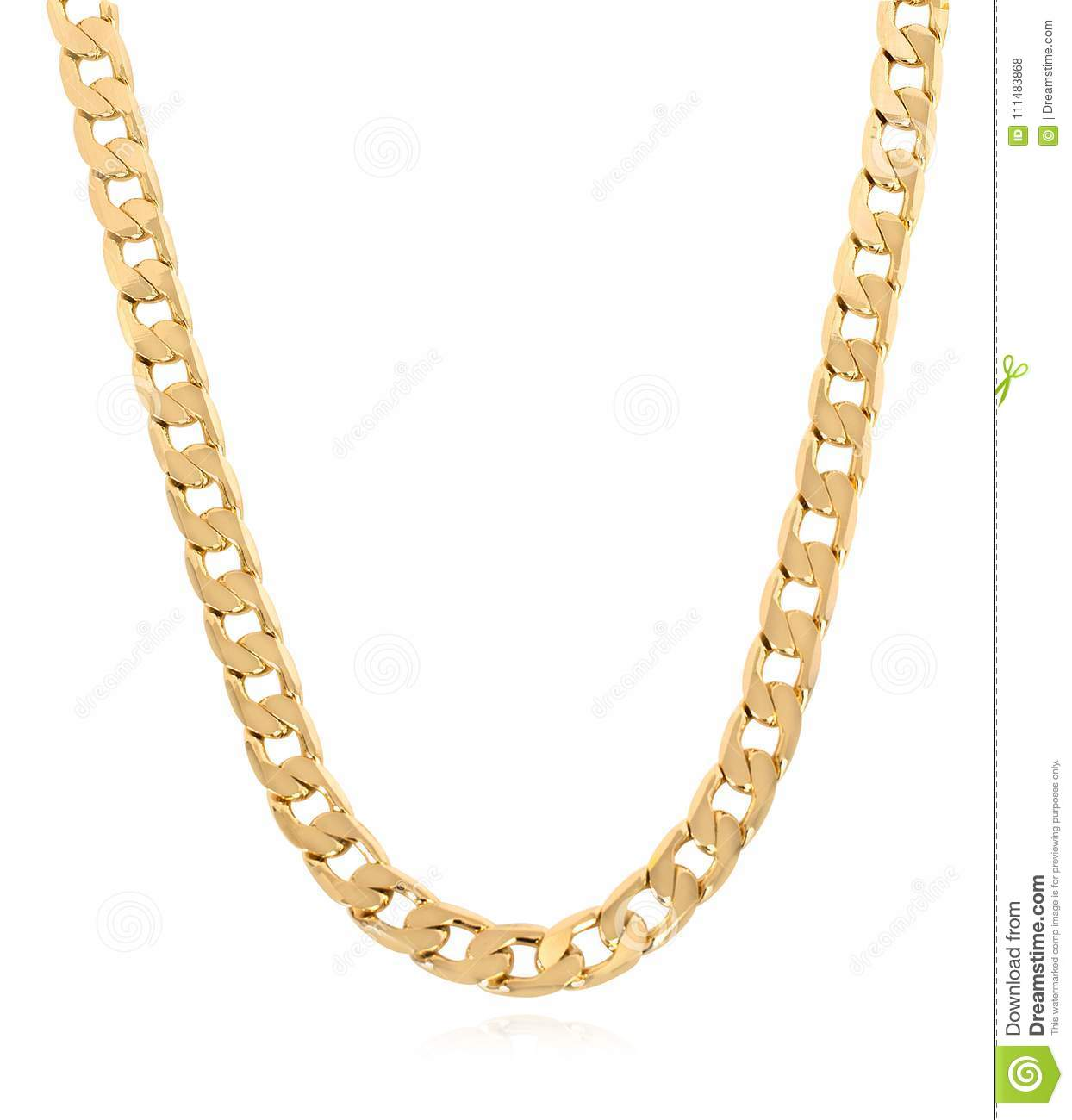 Heavy Gold Curb Link Chain For Men Stock Photo Image Of Bracelet