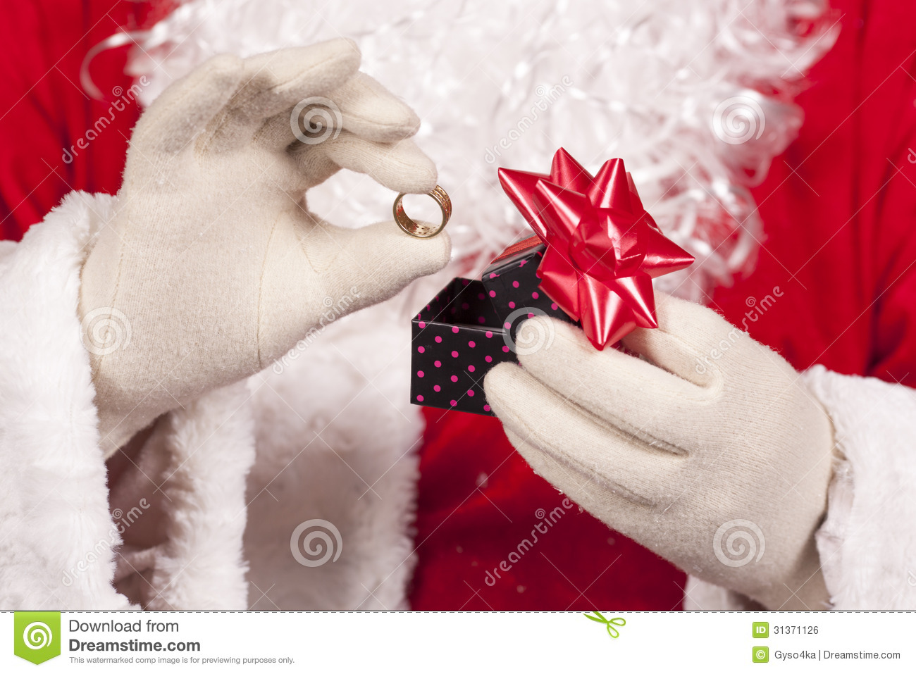 Jewelry Ring Gift Santa Claus Royalty Free Stock Image ...