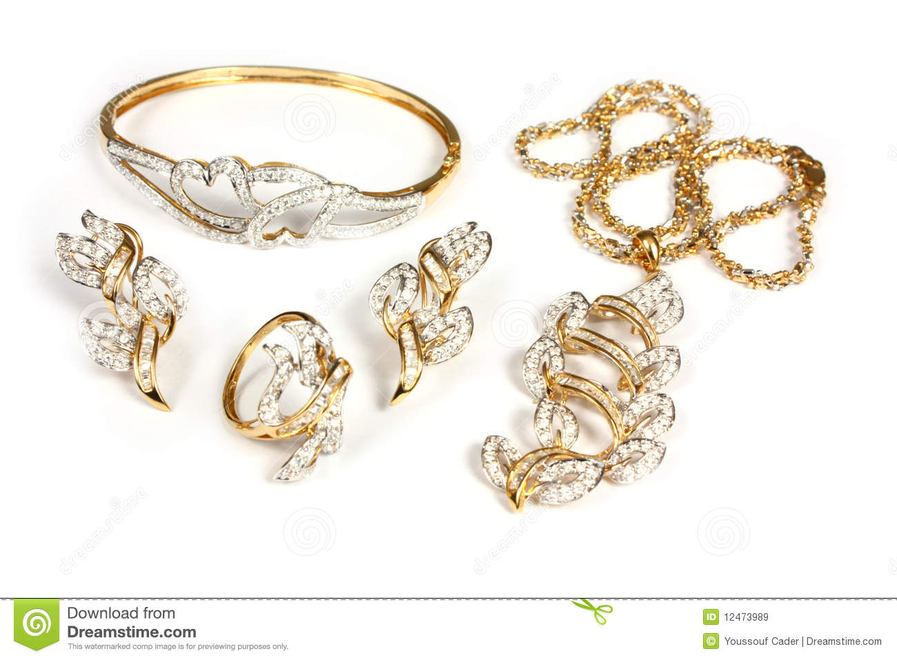 Jewelry Set Royalty Free Stock Images Image 12473989