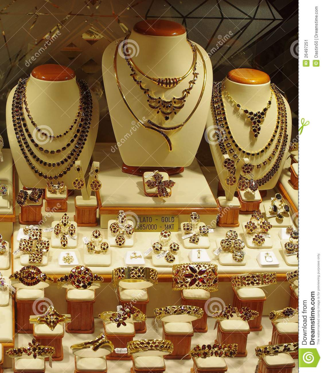 Jewelry Store Display Stock Image Image 26497251