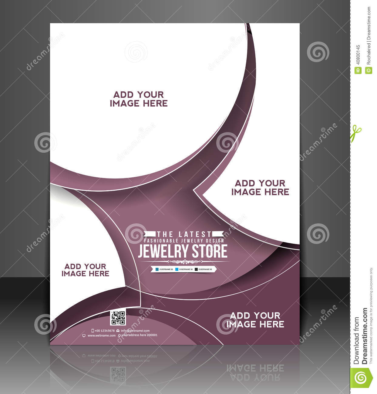 Jewelry Store Flyer Design Stock Vector Illustration Of Card 40800145