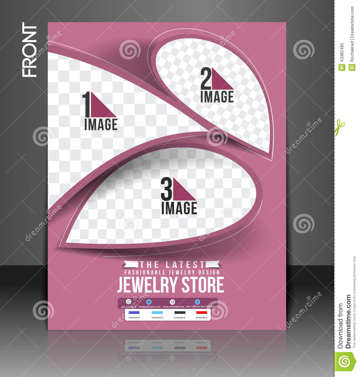 jewelry store flyer stock vector illustration of leaflet 43385495