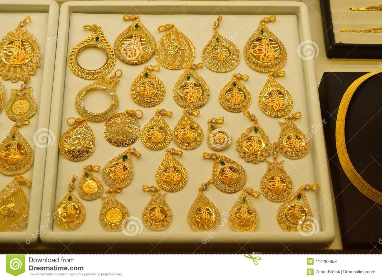 Jewelry Store In Grand Bazaar In Istanbul Editorial Stock Photo