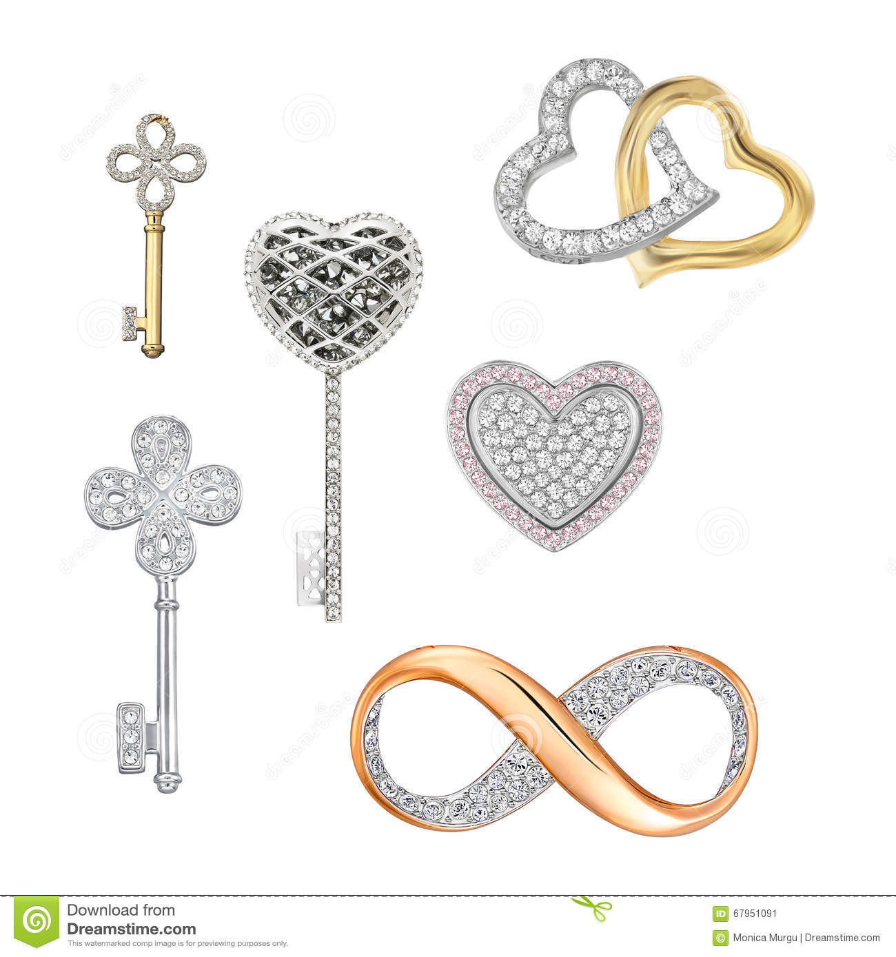 Jewelry Symbols Of Love Luck Fortune Stock Image Image Of Luck