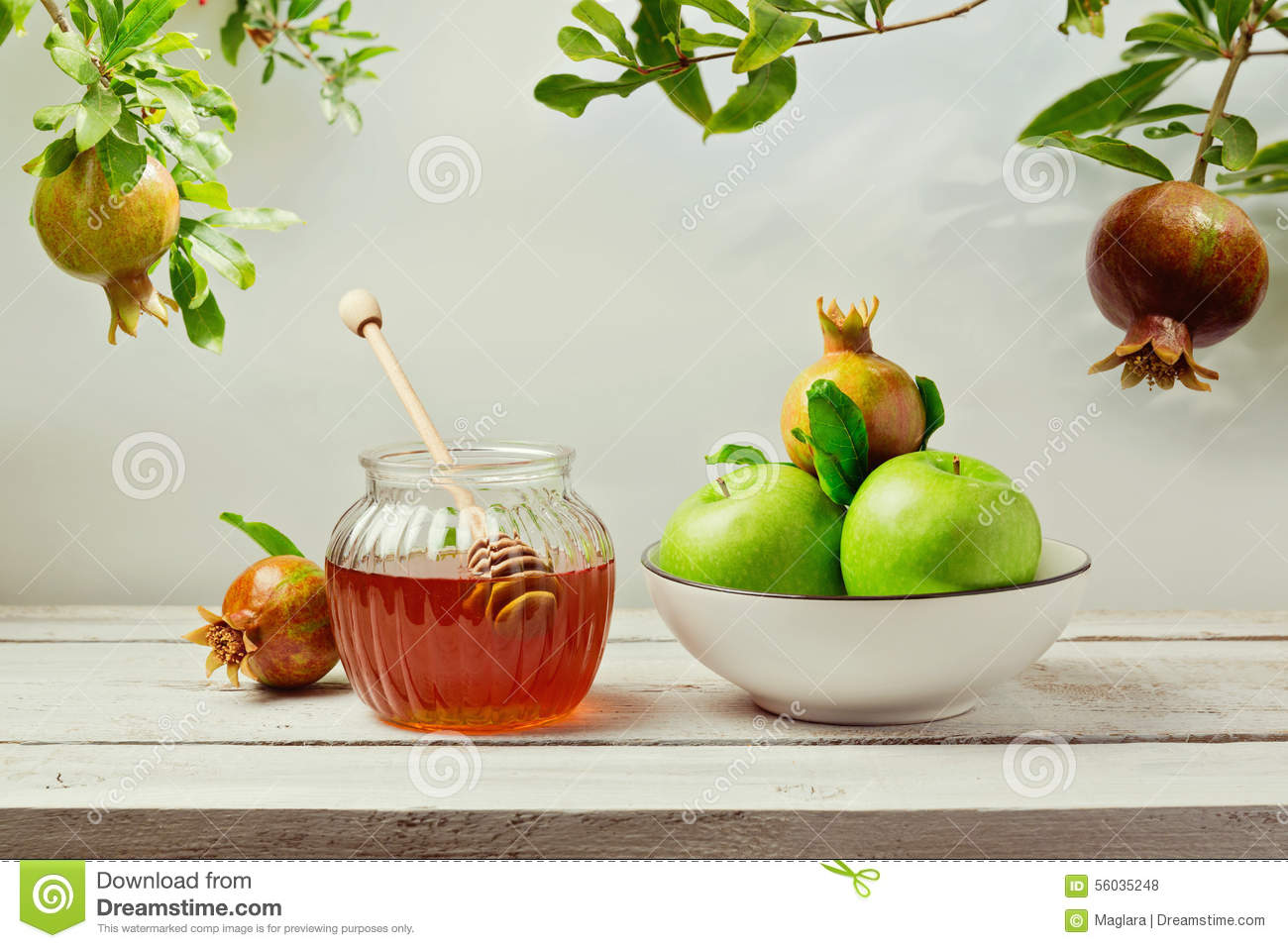 Jewish Holiday Rosh Hashana (new Year) Background With ...