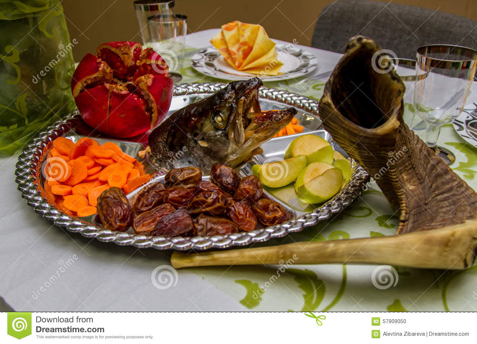 Jewish holidays rosh ha shana stock photo image 57909050 for Jewish fish dish