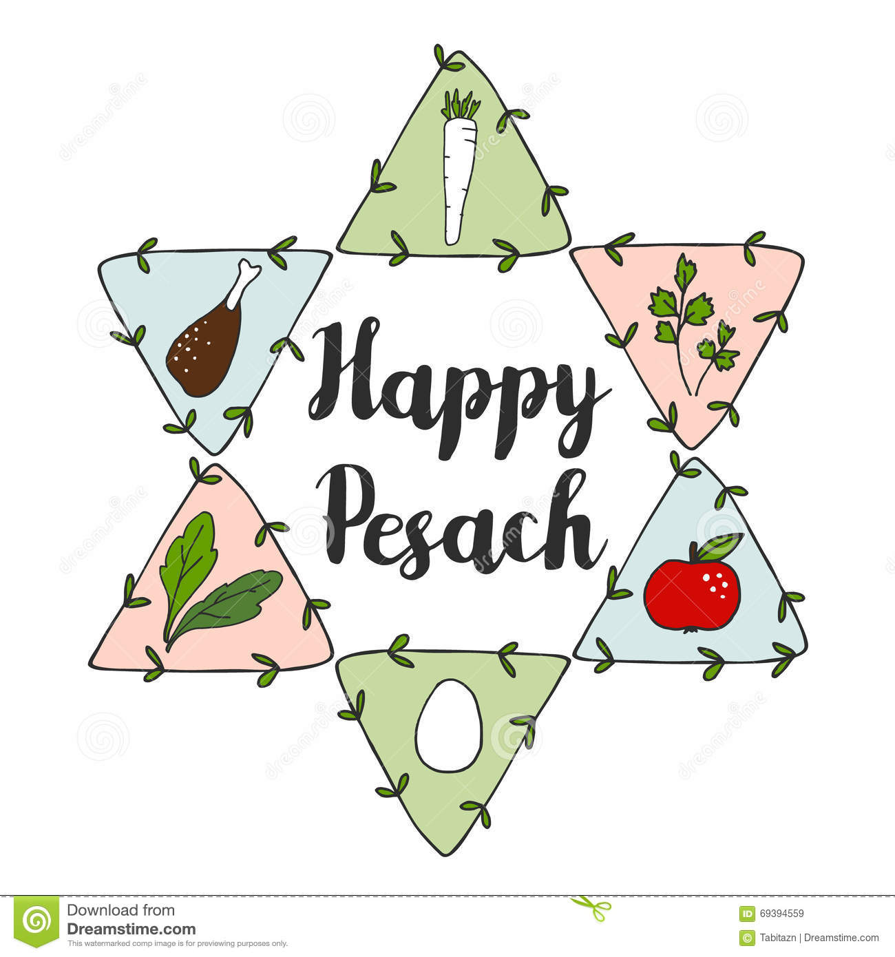 Jewish pesach passover greeting card with seder doodle icons and download comp m4hsunfo