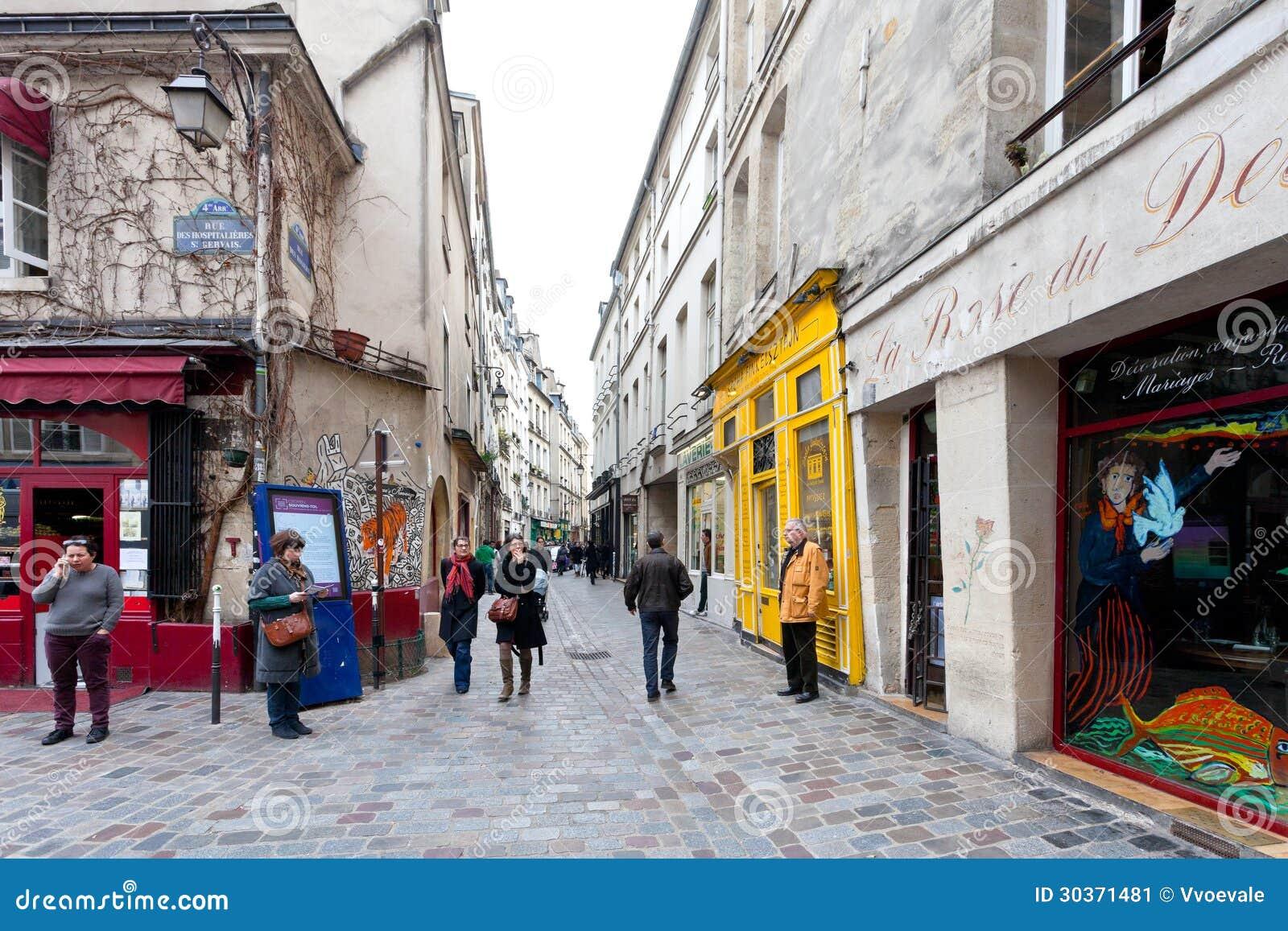 Jewish quarter of le marais in paris france editorial photo image 30371481 - Les cents ciels paris 11 ...