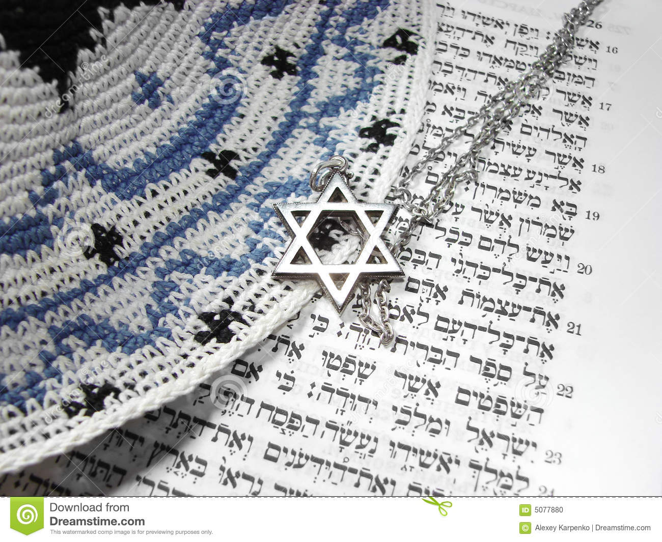 Jewish religious symbols from top