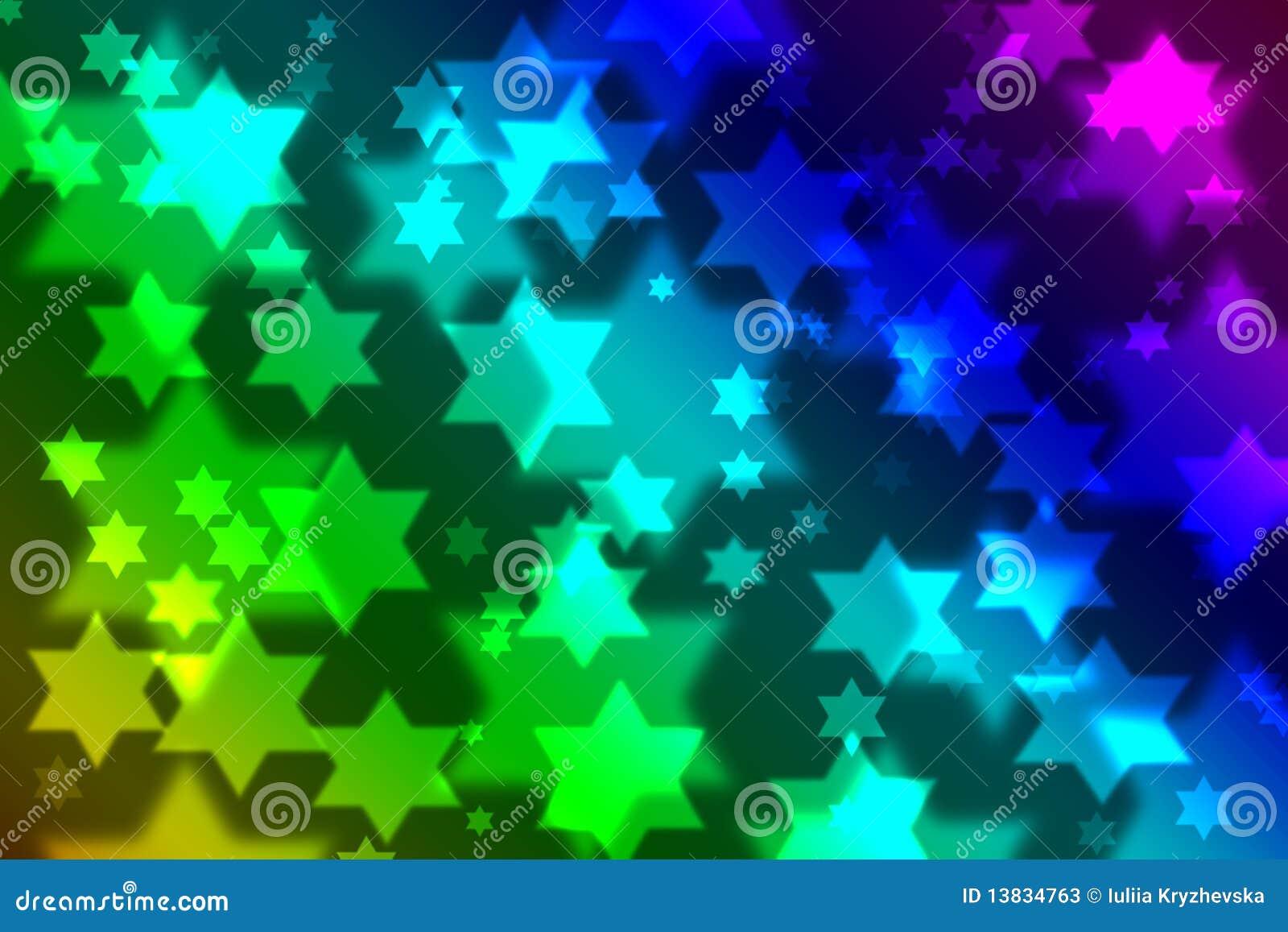Jewish Star Celebration Background Bokeh Stock Photos - Image ...