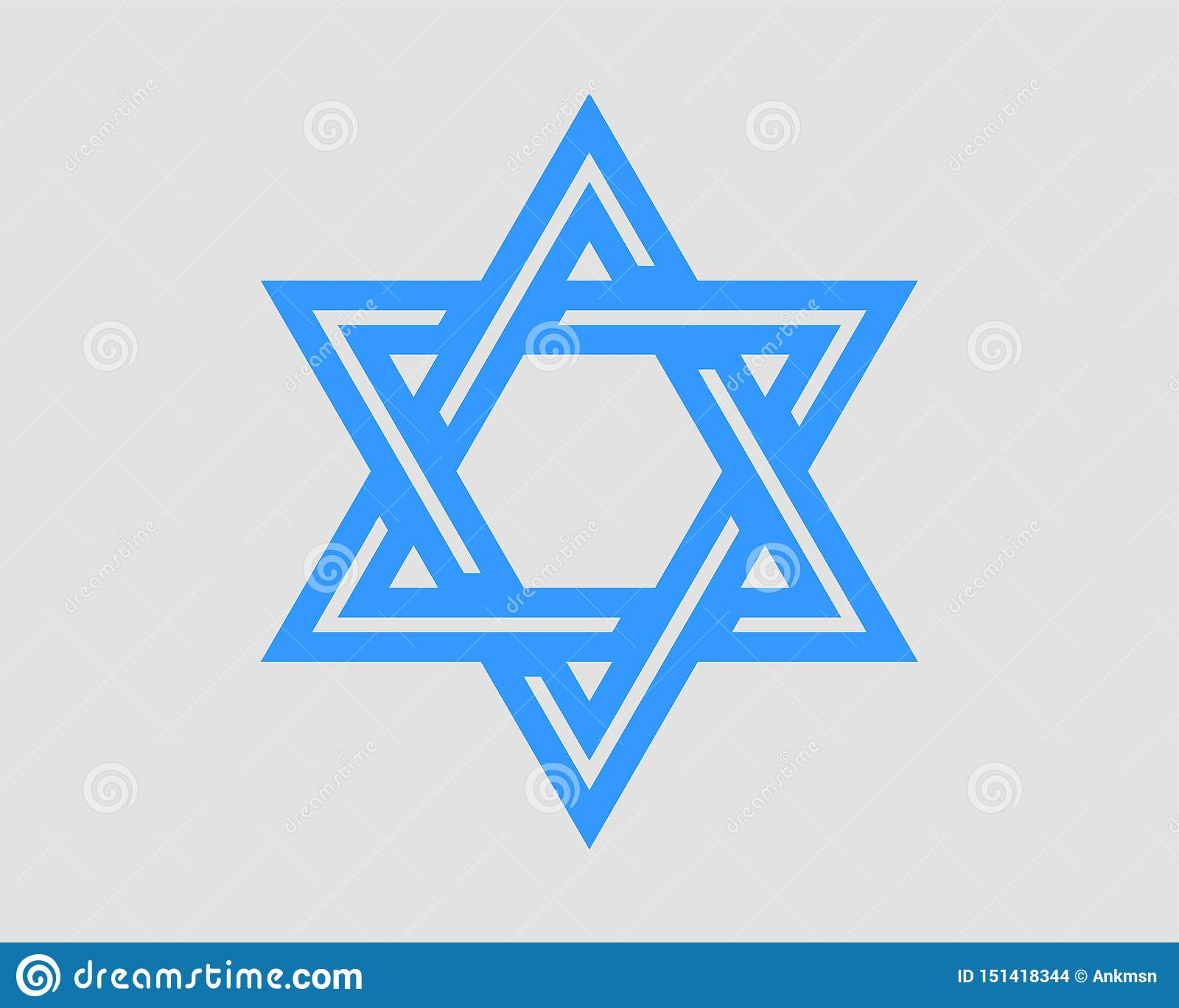 Jewish Star Of David Icon Vector Six Pointed Stars Symbol Stock Vector Illustration Of Israeli Element 151418344