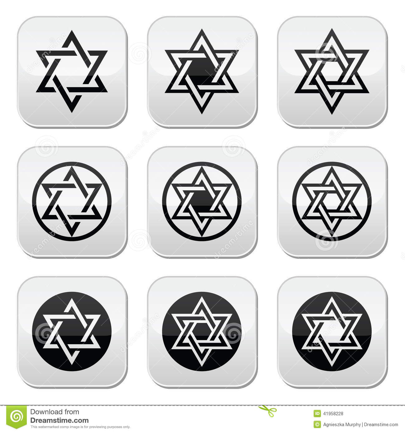 Jewish star of david icons set isolated on white stock vector jewish star of david icons set isolated on white biocorpaavc