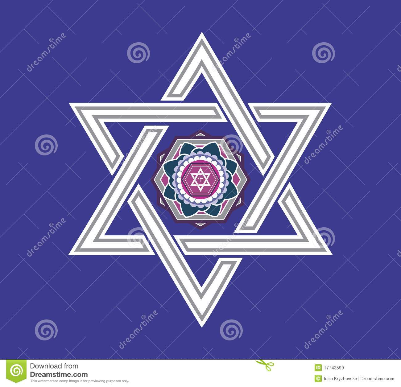 Jewish Star Design - Illustration Royalty Free Stock Images - Image ...