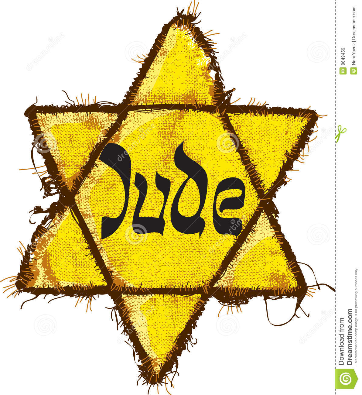 Jewish Yellow Star Classification Royalty Free Stock