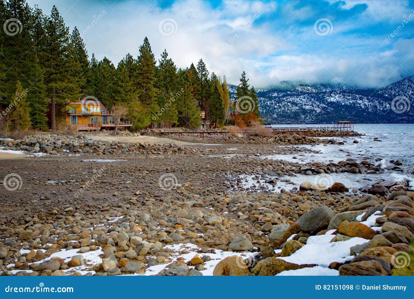 Jeziorna Tahoe zima Vista