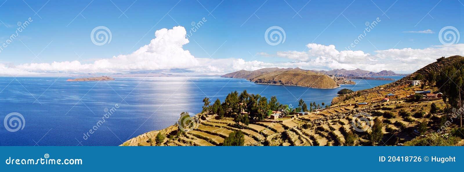 Jeziorny Bolivia titicaca Peru