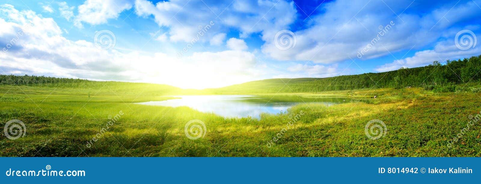 Jeziorny halny północny pano