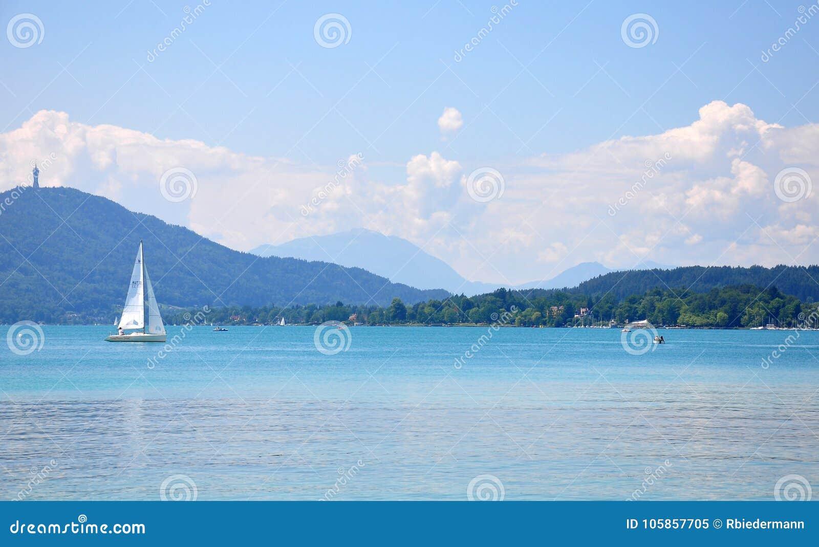 Jeziorny Woerthersee w Carinthia, Austria