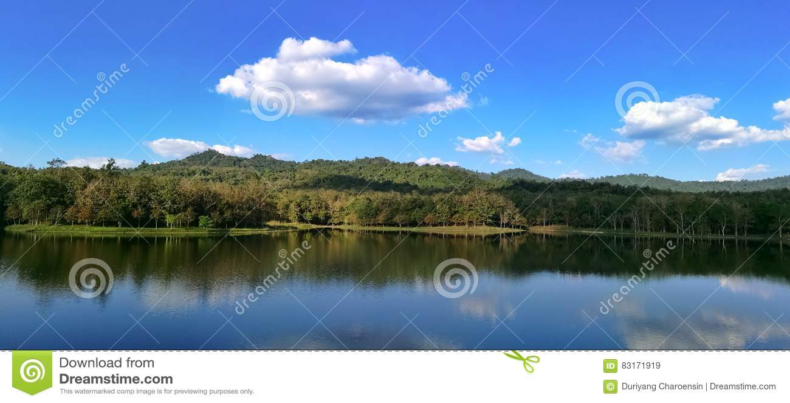 Jezioro w Pongkonsao saraburi Thailand