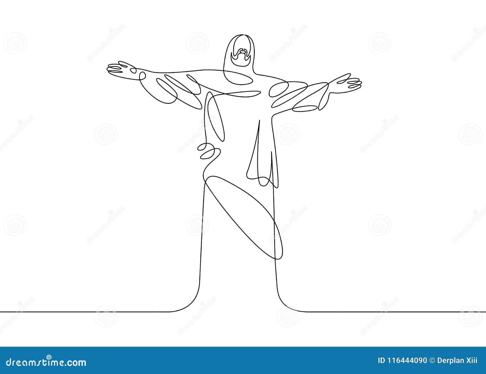 Jezus jeden linia