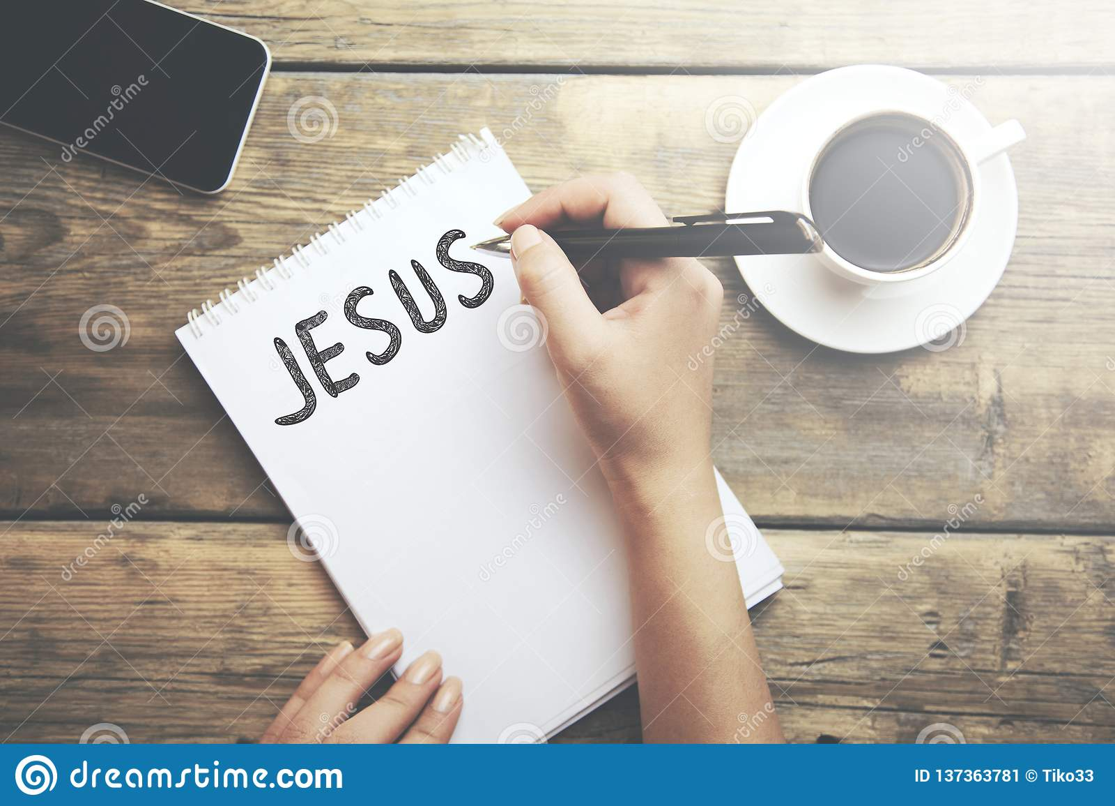 Jezusowy tekst na notepad