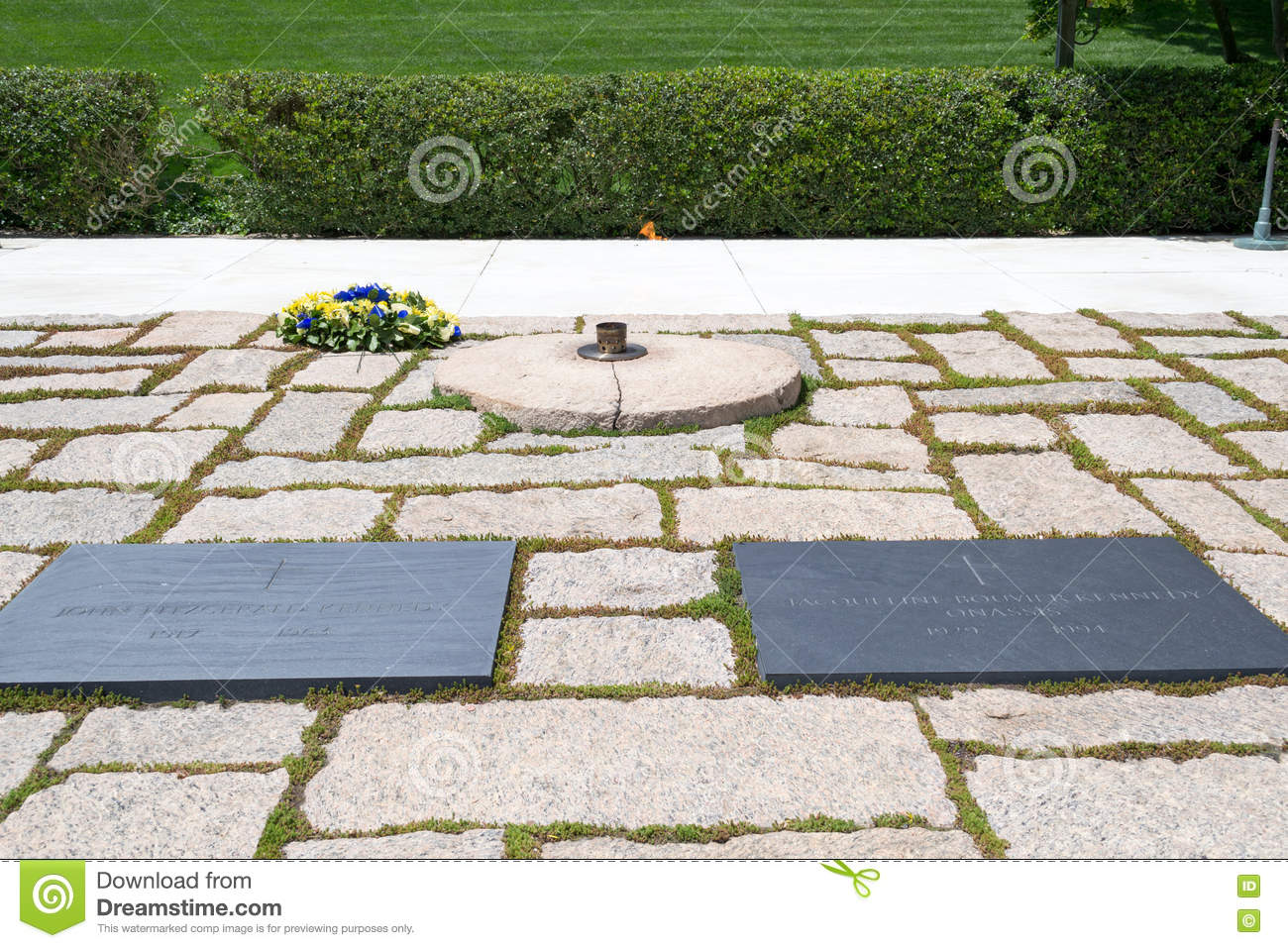 Jfk Grab In Arlington Nationalem Friedhof Stockbild Bild Von