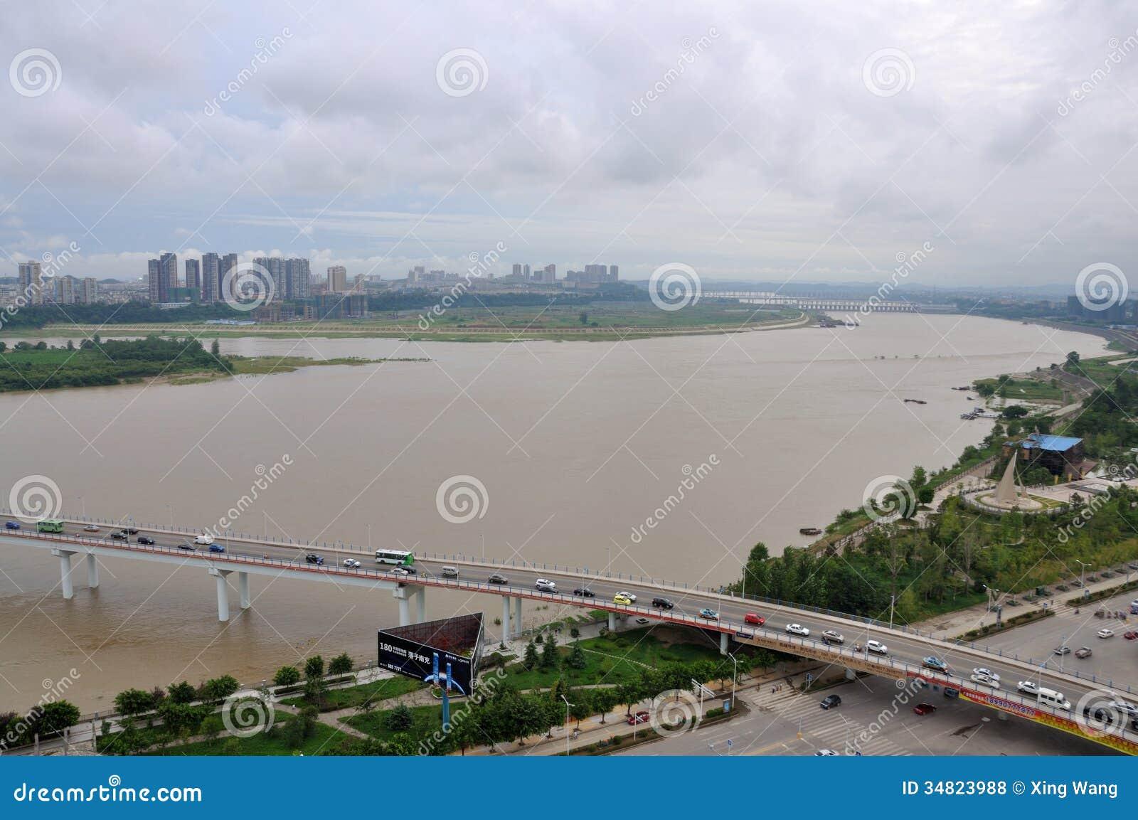 Nanchong China  City pictures : The Jialing River In Nanchong,China Editorial Stock Photo Image ...