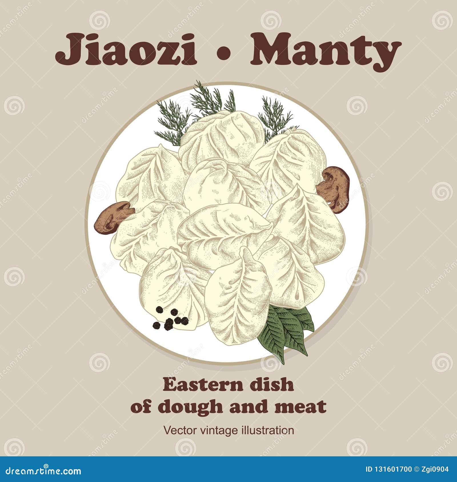Jiaozi Manta Mięsne kluchy