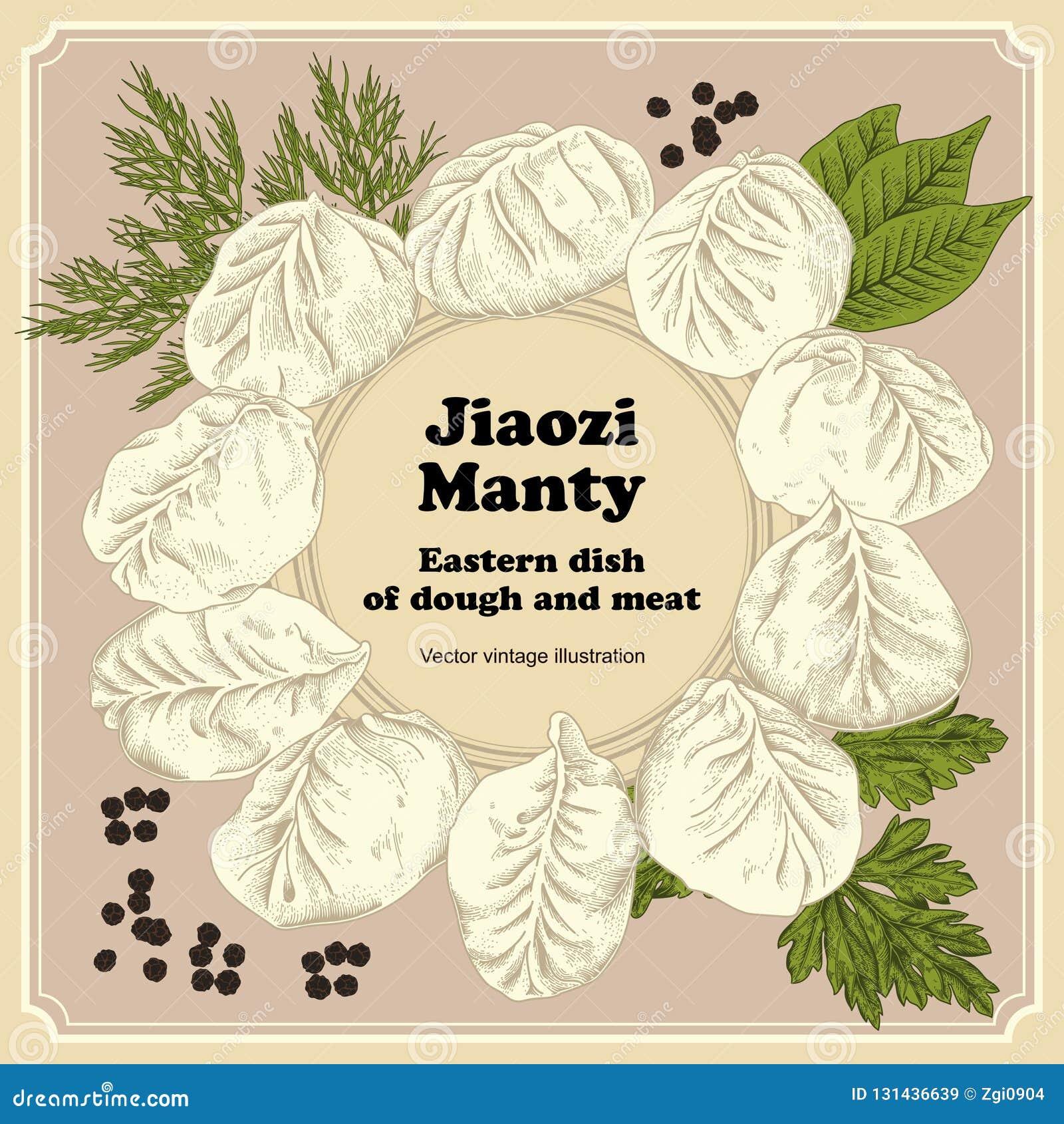 Jiaozi Manty Boulettes de viande Plats nationaux