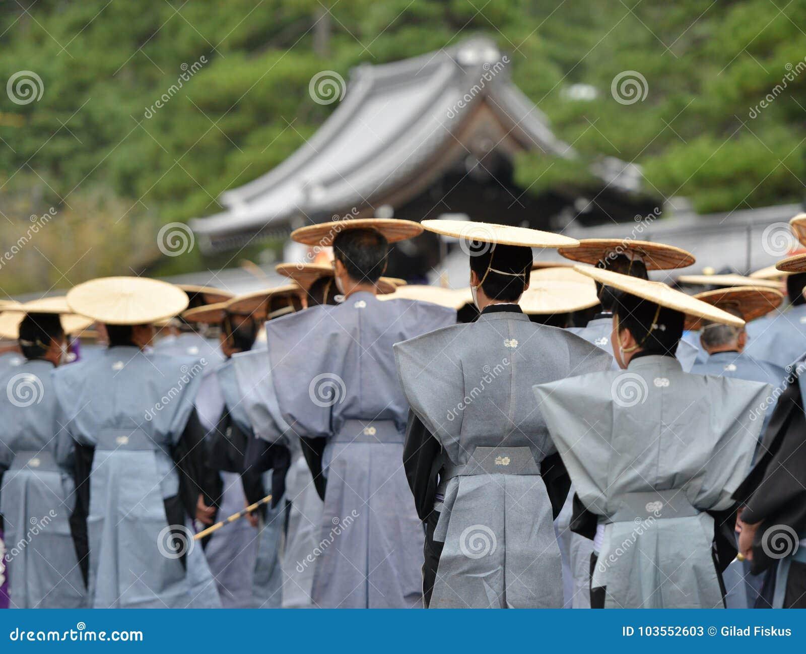 Jidai Matsuri ståtar i Kyoto