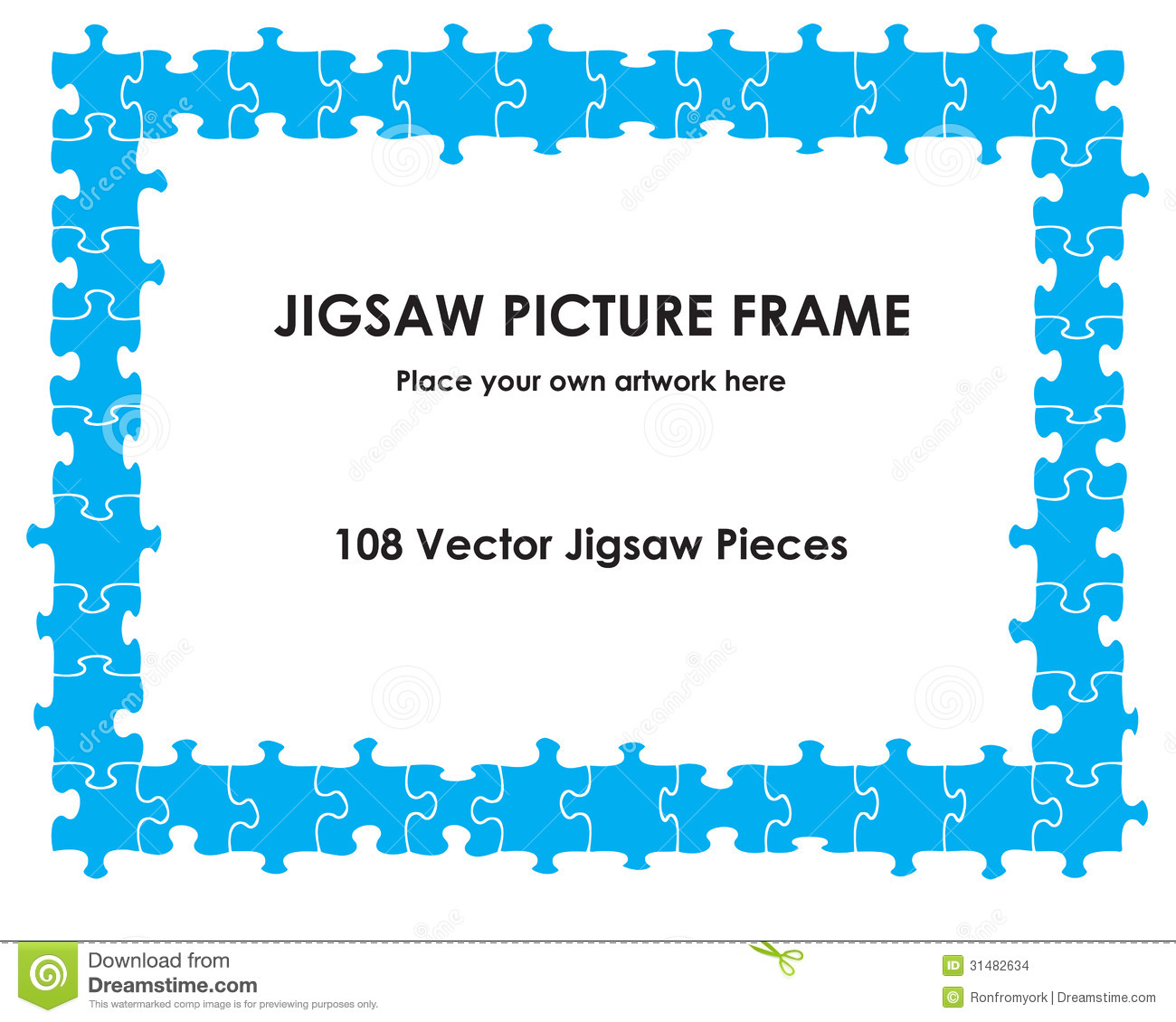 Jigsaw picture frame stock vector. Illustration of join - 31482634