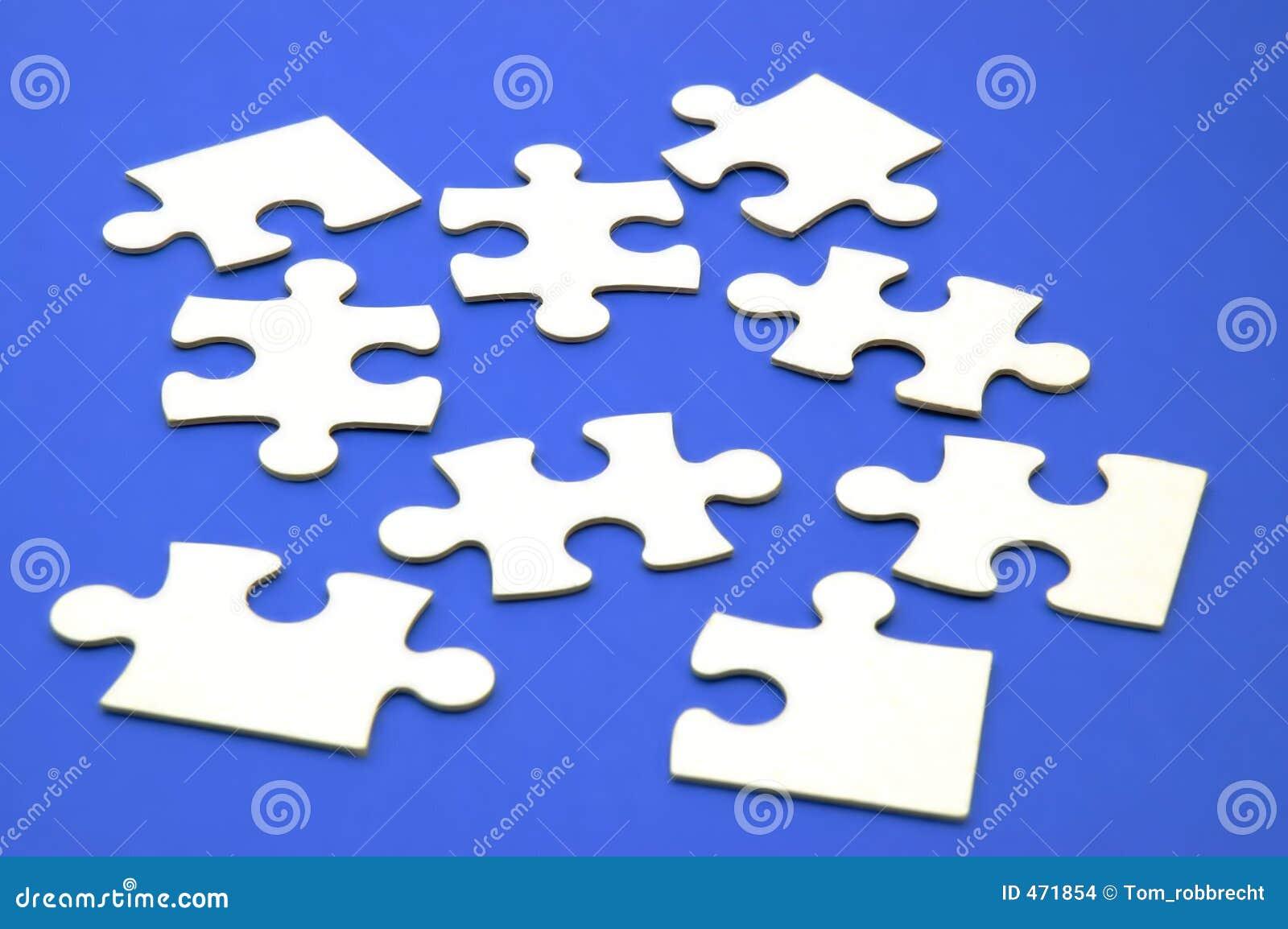 Jigsaw pieces blue