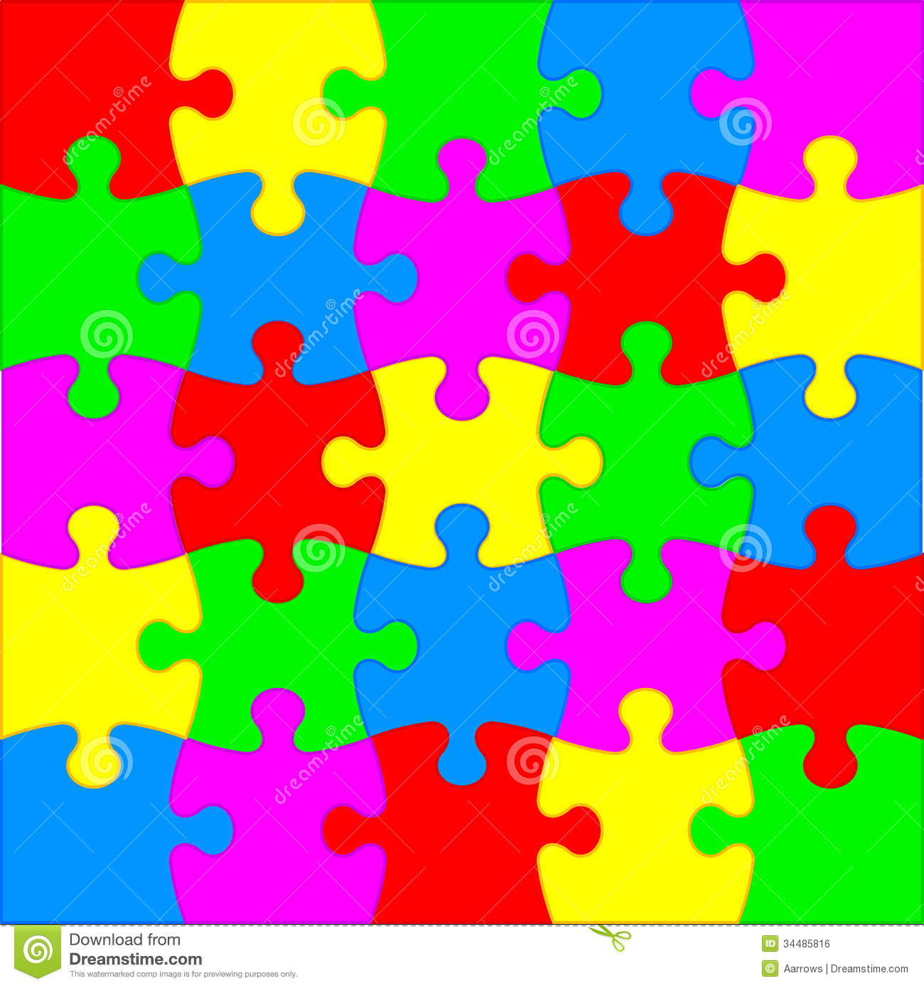 Jigsaw Puzzle Stock Vector Illustration Of Paper Connect