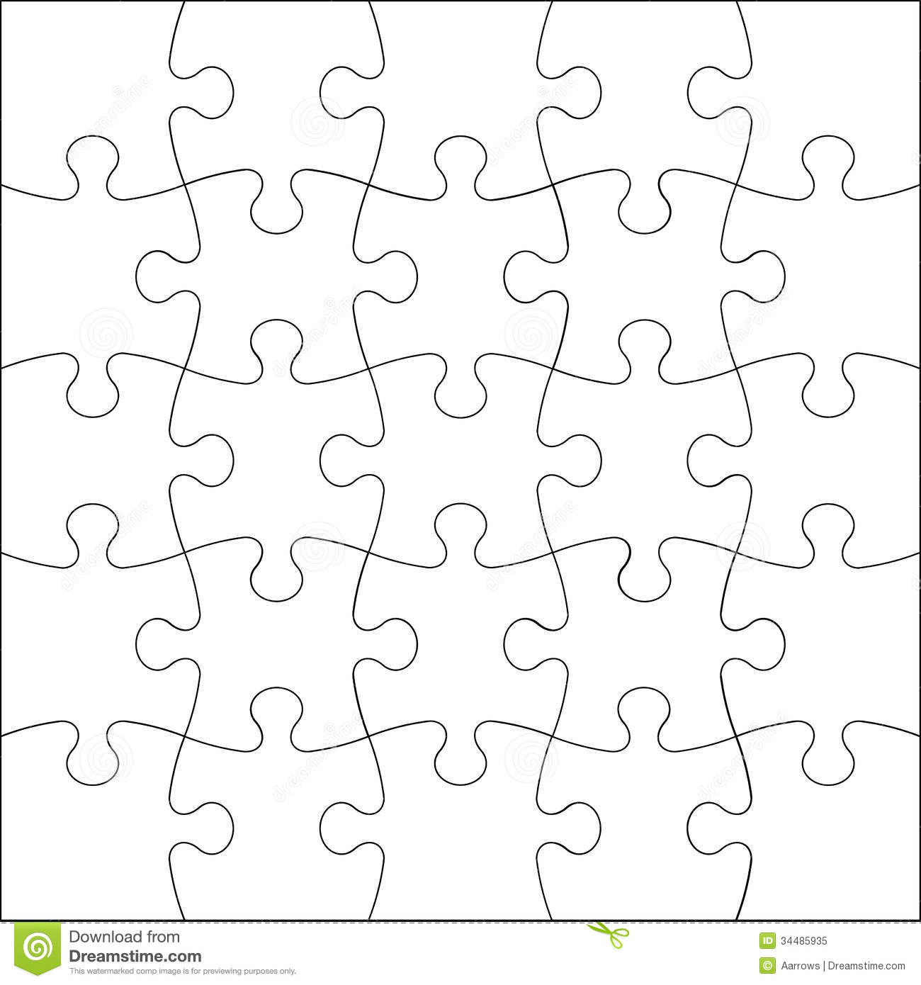 Jigsaw Puzzle Royalty Free Stock Photo Image 34485935